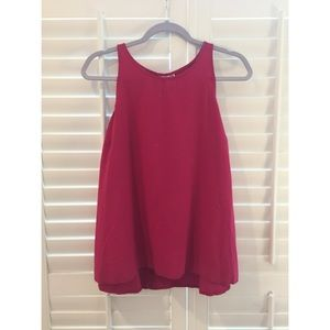 Old Navy, hot pink sleeveless blouse